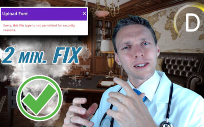 """Upload Font to Divi – FIX """"This Filetype is not permitted…"""" in just 2 minutes!"""