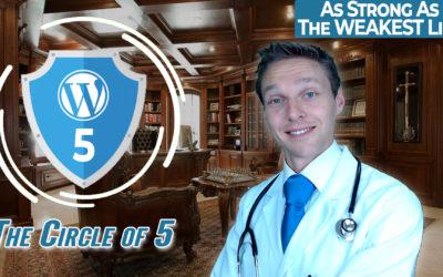 WordPress Security – The Circle of 5 – Tutorial 2020